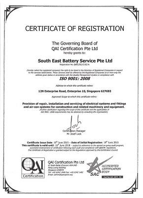 ISO 9001 cert_South East Battery-s